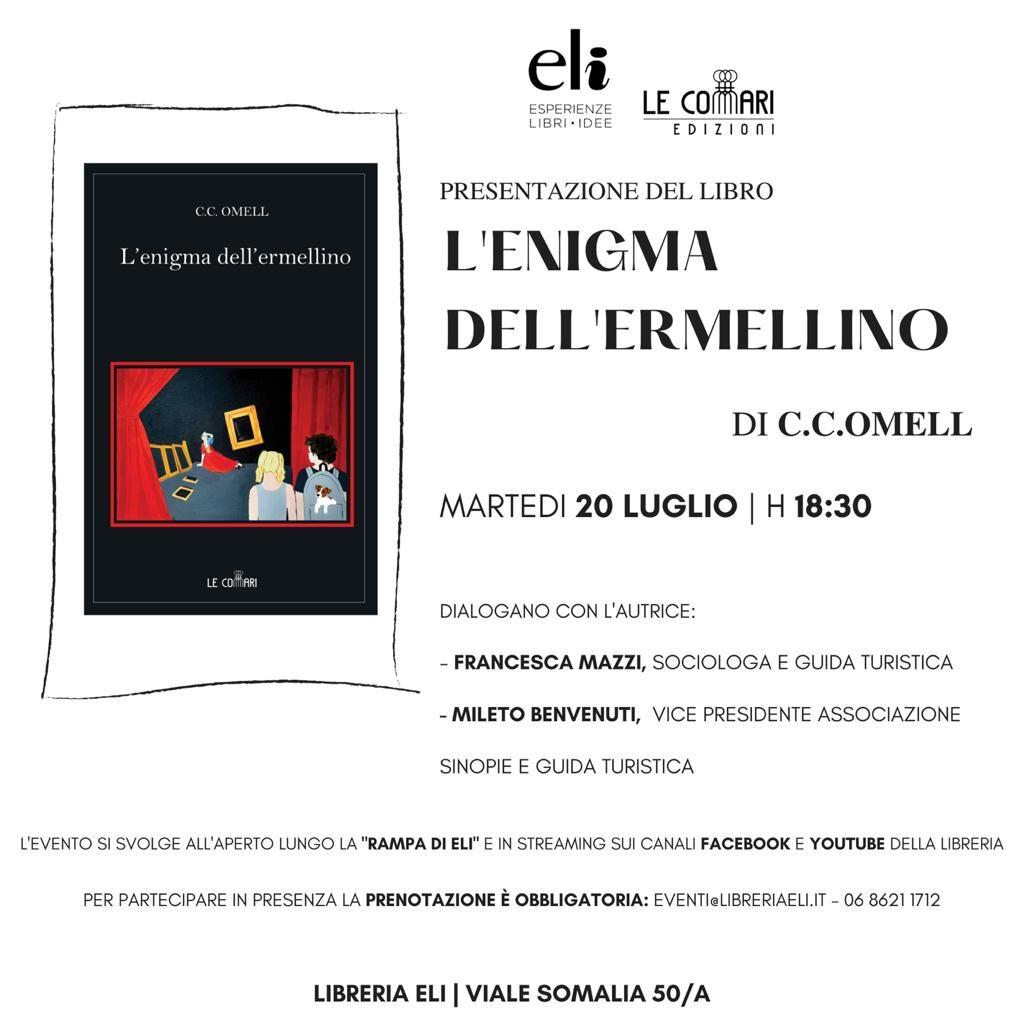 Il 20 luglio presentazione L'enigma dell'ermellino presso la libreria Eli di Roma